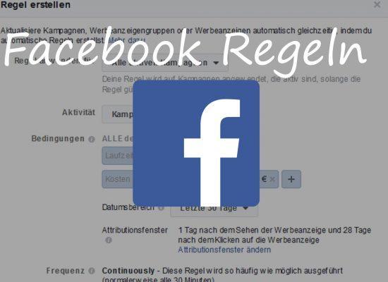 Automatische Facebook Regeln