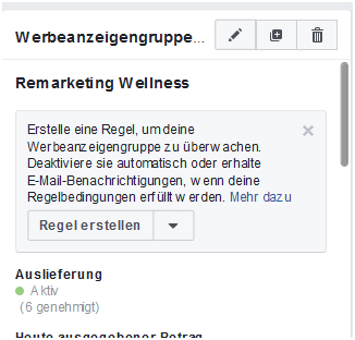 Wo Facebook Regeln aktivierbar sind